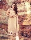 image of Designer Classic Beige Color Cotton Salwar Kameez