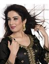 photo of Black Floor Length Georgette Anarkali Suit-1003
