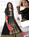 image of Black Floor Length Georgette Anarkali Suit-1003