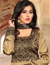 photo of Beige Silk Long Length Anarkali Salwar Kameez