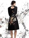 photo of Printed Party Wear Georgette Kurti in Black Color