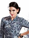 photo of Grey Color Printed Party Wear Georgette Kurti for Women