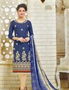 image of Soothing Designer Party Wear Silk Salwar Suit With Emboirdery
