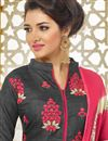 photo of Designer Party Wear Silk Fabric Salwar Kameez In Grey Color