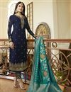 image of Kritika Kamra Function Wear Georgette Designer Embroidered Navy Blue Suit With Dupatta