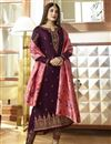 image of Kritika Kamra Purple Designer Georgette Embroidered Function Wear Suit With Fancy Dupatta