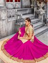 photo of Designer Party Wear Classic Pink Color Saree With Unstitched Blouse