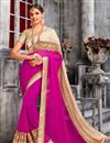 image of Designer Party Wear Classic Pink Color Saree With Unstitched Blouse