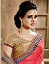 photo of Pink-Green Chiffon Festive Wear Designer Saree-902