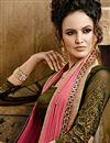 photo of Yellow-Pink Embroidered Chiffon Designer Saree-903
