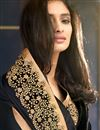 photo of Black-Cream Jacquard-Net Designer Sari with Blouse