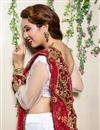 picture of White Color Embroidered Chaniya Choli