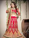 image of Red Color Embroidered Chaniya Choli