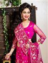 photo of Rani Color Embroidered Chaniya Choli