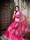 image of Dark Pink Color Embroidered Chaniya Choli