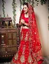 image of Red Color Embroidered Chaniya Choli
