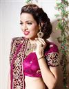 photo of Magenta Color Embroidered Chaniya Choli