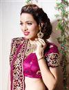 photo of Magenta Color Embroidered Chaniya Choli