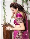 picture of Magenta Color Embroidered Chaniya Choli