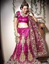image of Magenta Color Embroidered Chaniya Choli