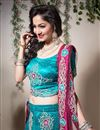 photo of Turquoise Color Embroidered Chaniya Choli