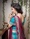 picture of Turquoise Color Embroidered Chaniya Choli