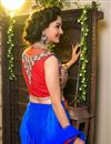 picture of Royal Blue Color Embroidered Chaniya Choli