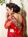 picture of Red Color Embroidered Chaniya Choli