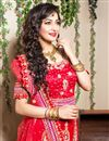 photo of Red Color Embroidered Chaniya Choli