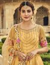 photo of Yellow Color Festive Wear Embroidered Georgette Fabric Anarkali Salwar Suit