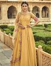 image of Yellow Color Festive Wear Embroidered Georgette Fabric Anarkali Salwar Suit