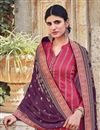 photo of Pink Color Party Style Embroidered Chinon Fabric Palazzo Salwar Suit