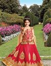 image of Festive Special Silk Fancy Embroidered Lehenga For Girls