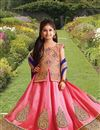 image of Wedding Wear Fancy Silk fabric Girls Lehenga Choli