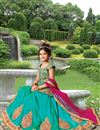 image of Eid Special Silk Embroidered Lehenga For Girls