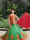 image of Festive Special Embellished Girls Function Wear Lehenga In Silk Fabric