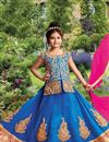 image of Embellished Silk Wedding Wear Girls Lehenga