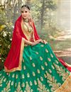 photo of Eid Special Net Fabric Embroidered Wedding Wear Lehenga Choli