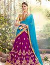 image of Navratri Special Embellished Net Designer Lehenga In Purple