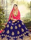 photo of Eid Special Embroidered Fancy Lehenga Choli In Net Blue