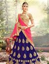 image of Eid Special Embroidered Fancy Lehenga Choli In Net Blue