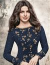 photo of Priyanka Chopra Straight Cut Embroidered Georgette Suit