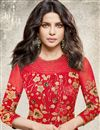 photo of Eid Special Priyanka Chopra Net Fabric Straight Fancy Churidar Dress