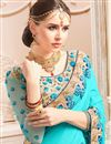 photo of Wedding Function Wear Fancy Cyan Saree