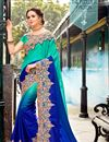 image of Function Wear Fancy Embroidered Saree With Lace Border