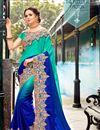 image of Wedding Wear Fancy Designer Saree With Heavy Border