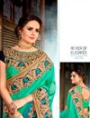photo of Designer Function Wear Fancy Embroidered Saree With Border