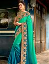 image of Fancy Embellished Designer Saree With Lace Border