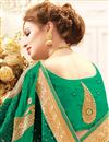 photo of Function Wear Fancy Embroidered Saree In Green Georgette
