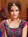 photo of Georgette Party Wear Fancy Saree With Embroidered Blouse